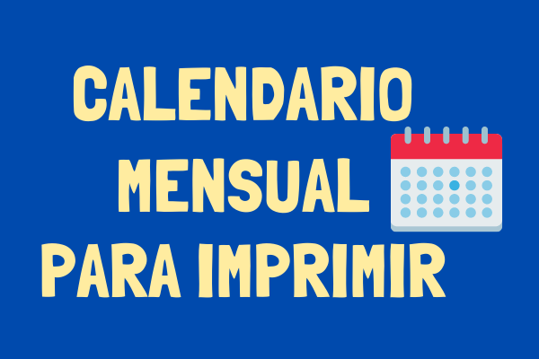 Calendario imprimible para descargar